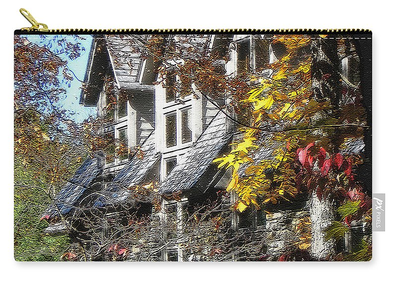 Windows Carry-all Pouch featuring the photograph Autumn's Windows by Lydia Holly