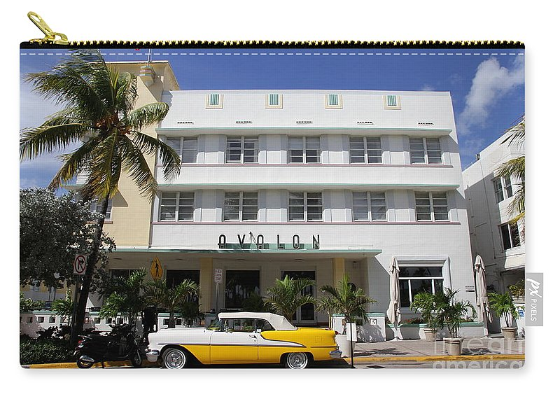 Architecture Carry-all Pouch featuring the photograph Avalon On Ocean Drive by Christiane Schulze Art And Photography