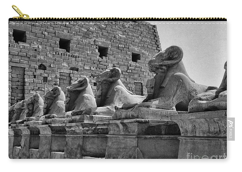 Egypt Carry-all Pouch featuring the photograph Avenue Of Sphinxes by Antony McAulay