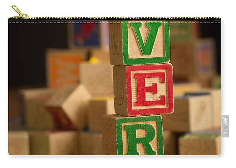 Alphabet Carry-all Pouch featuring the photograph Avery - Alphabet Blocks by Edward Fielding