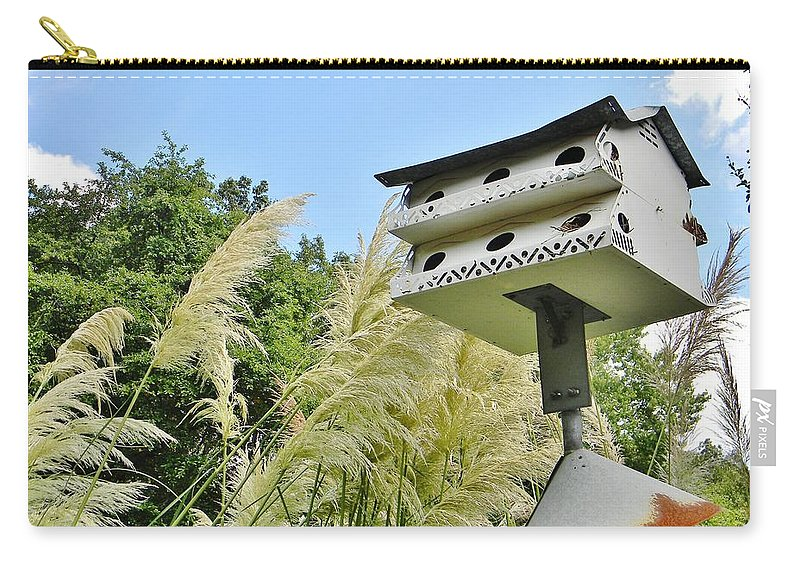 Birdhouse Carry-all Pouch featuring the photograph Avian Hotel by Jean Goodwin Brooks