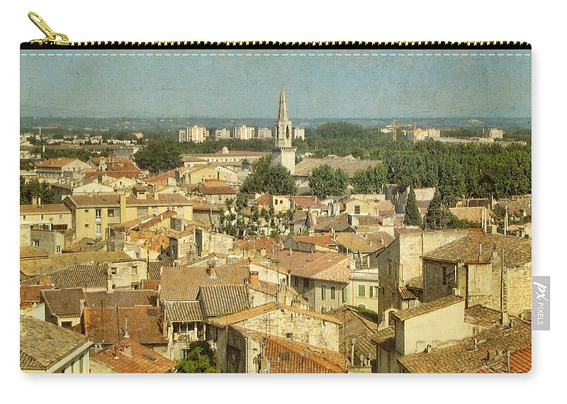 Wright Carry-all Pouch featuring the photograph Avignon From Les Roches by Paulette B Wright