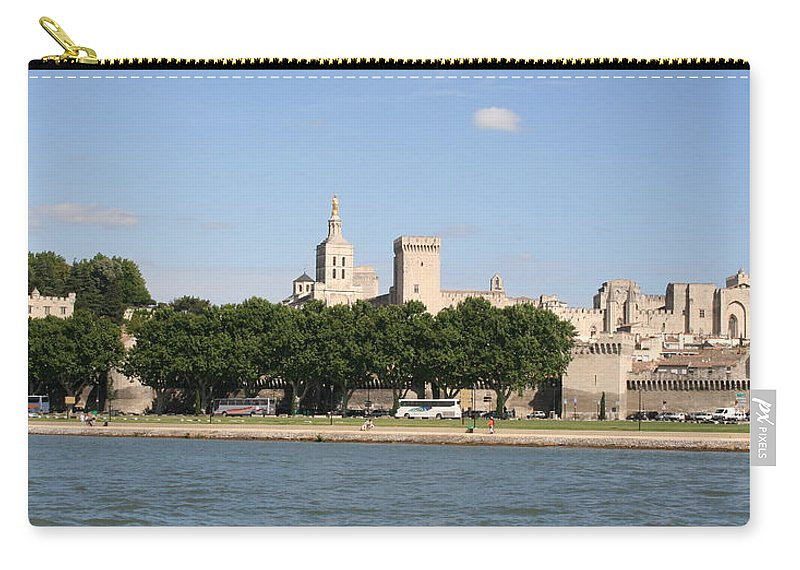 City Carry-all Pouch featuring the photograph Avigon View From River Rhone by Christiane Schulze Art And Photography