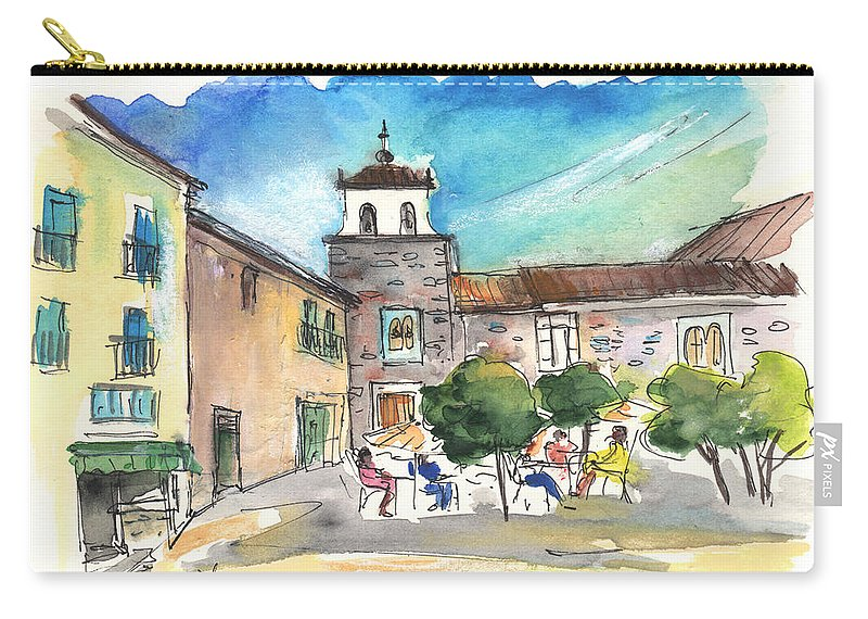 Travel Carry-all Pouch featuring the painting Avila 04 by Miki De Goodaboom