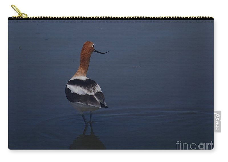 American Avocet Carry-all Pouch featuring the photograph Avocet Wading by Marty Fancy