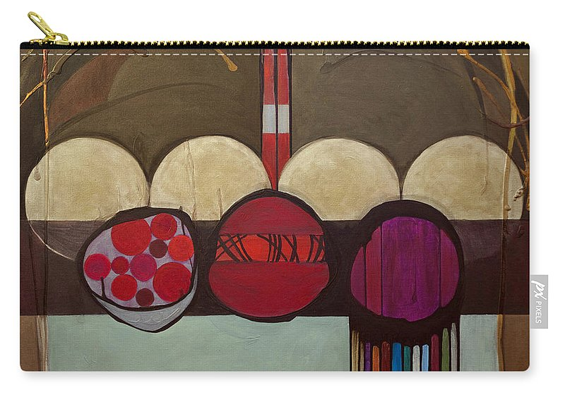Jewish Carry-all Pouch featuring the painting Avot V'imahot by Marlene Burns