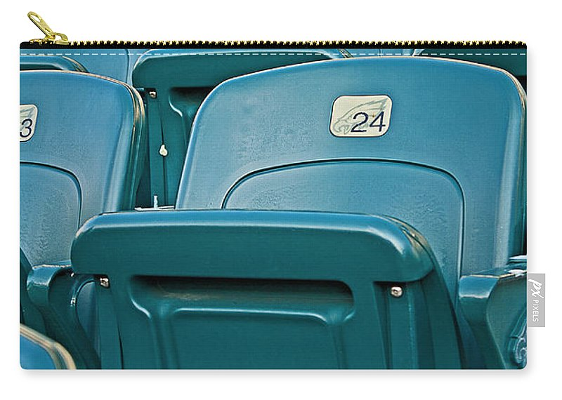 Stadium Carry-all Pouch featuring the photograph Awaiting The Crowds by Michael Porchik