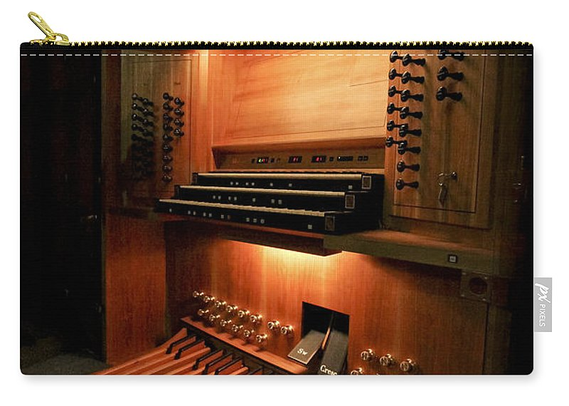 Organ Carry-all Pouch featuring the photograph Awaiting The Maestro by Jenny Setchell