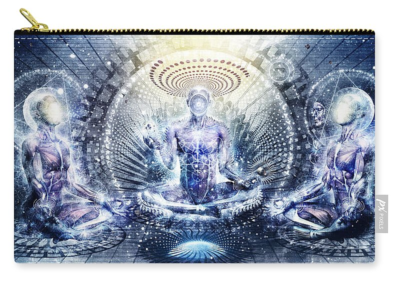 Spiritual Carry-all Pouch featuring the digital art Awake Could Be So Beautiful by Cameron Gray