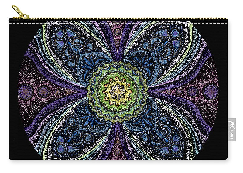Healing Mandala Carry-all Pouch featuring the painting Awakening by Keiko Katsuta