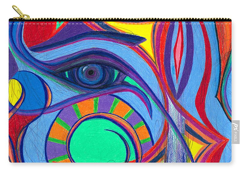 Bright Carry-all Pouch featuring the drawing Awakening To Thy True Self by Daina White