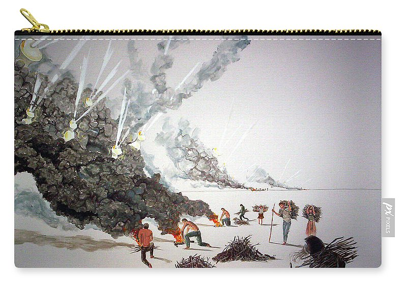 People Carry-all Pouch featuring the painting Awakenings by Lazaro Hurtado