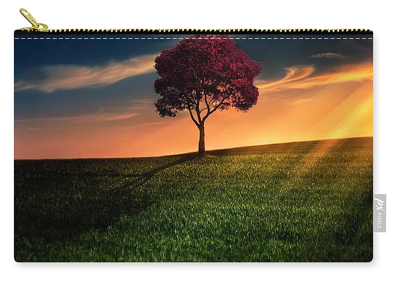 Agriculture Carry-all Pouch featuring the photograph Awesome Solitude by Bess Hamiti