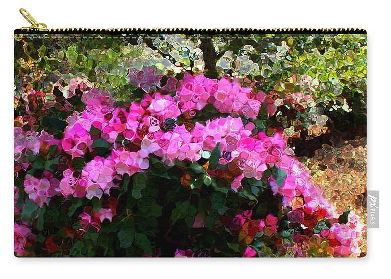 Carry-all Pouch featuring the mixed media Azalea by Terence Morrissey