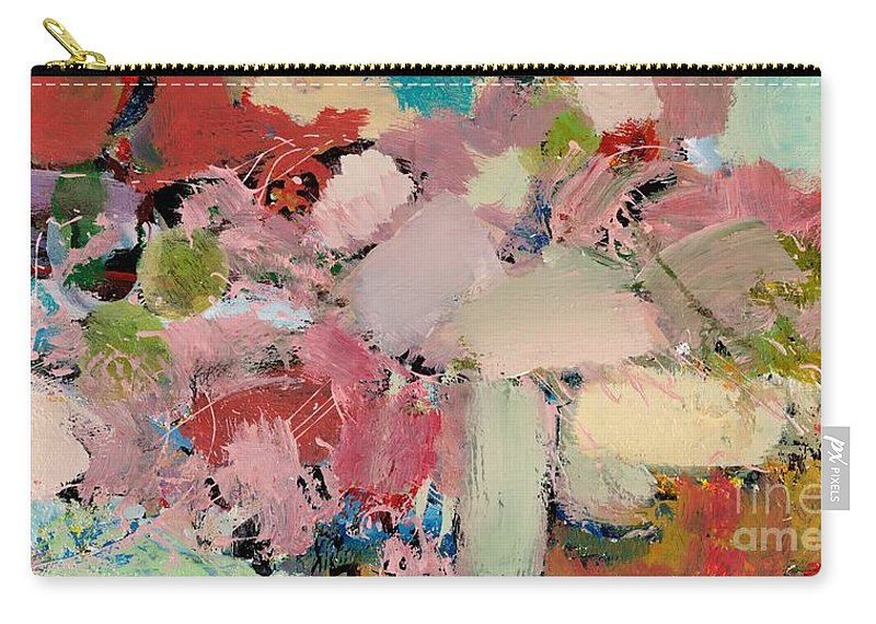 Landscape Carry-all Pouch featuring the painting Azaleas by Allan P Friedlander