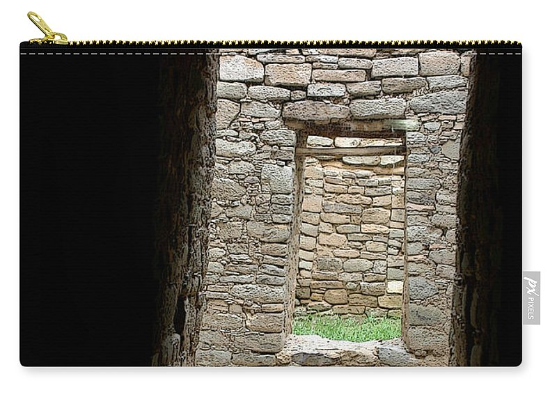 Ruins Carry-all Pouch featuring the photograph Aztec Doorway by Joe Kozlowski