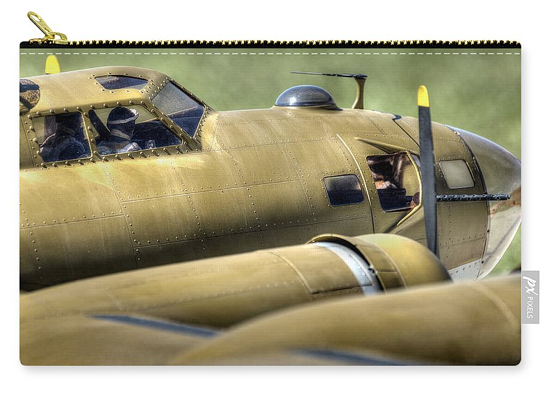 B-17 Carry-all Pouch featuring the photograph B-17 by David Hart