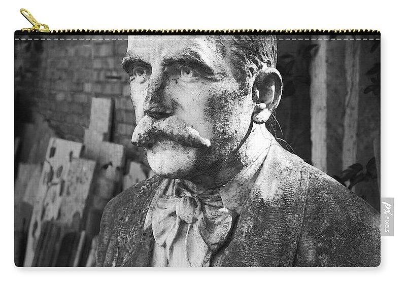 Mark J Dunn Carry-all Pouch featuring the photograph Stone Man by Mark J Dunn