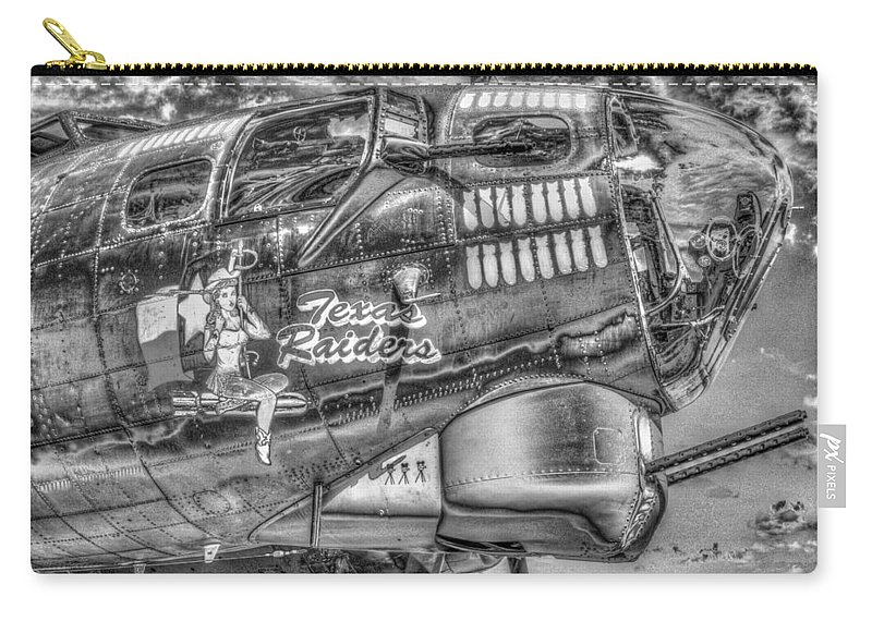 B17 Carry-all Pouch featuring the photograph B17 Texas Raiders V14c by John Straton