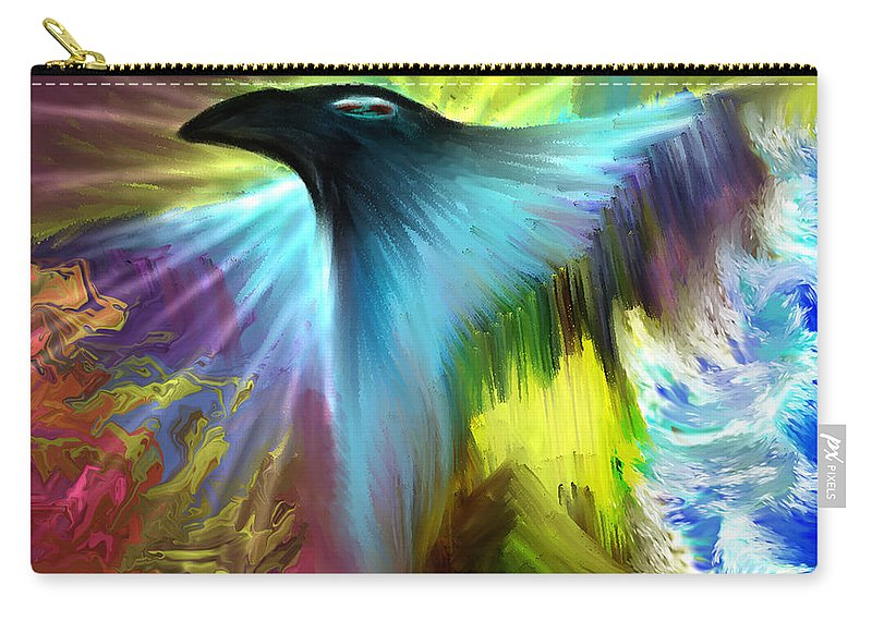 Carry-all Pouch featuring the digital art B497007 by Studio Pixelskizm