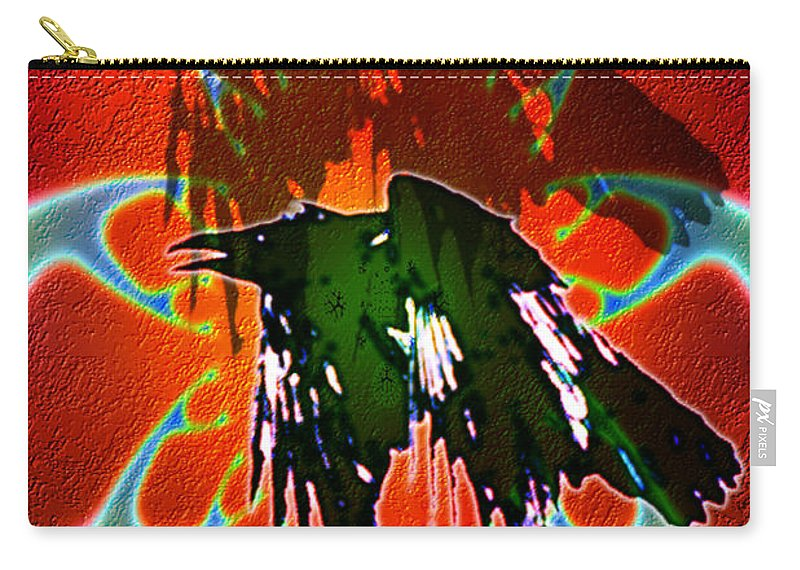 Carry-all Pouch featuring the digital art B497055 by Studio Pixelskizm