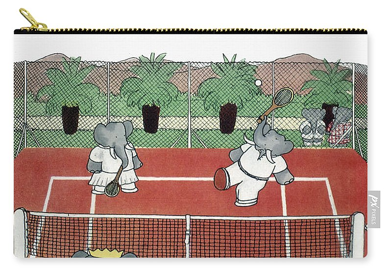 1930s Carry-all Pouch featuring the photograph Babar The Elephant, 1930s by Granger