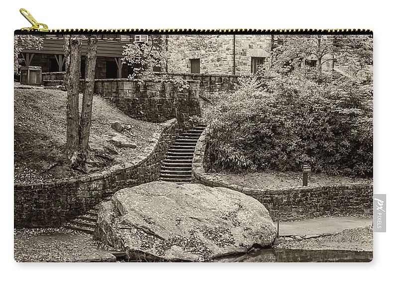 Babcock Carry-all Pouch featuring the photograph Babcock Sepia by Steve Harrington