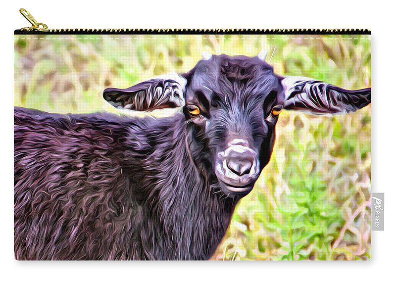 Baby Goat Carry-all Pouch featuring the photograph Baby Billy by Alice Gipson