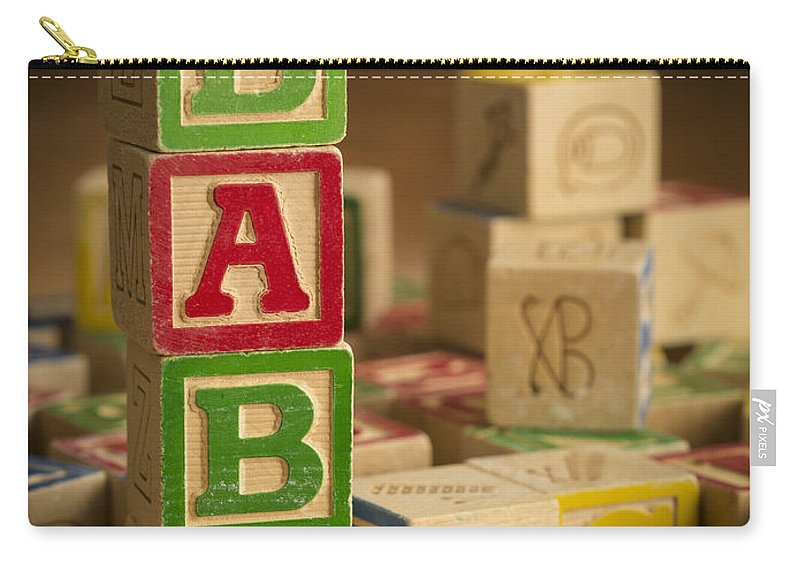 Blocks Carry-all Pouch featuring the photograph Baby Blocks by Edward Fielding