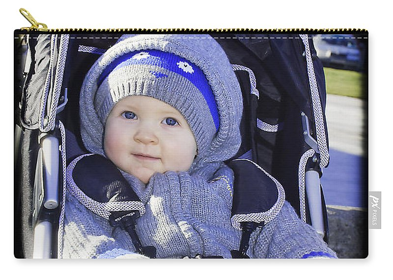 Baby Carry-all Pouch featuring the photograph Baby Blue by Alex Art and Photo