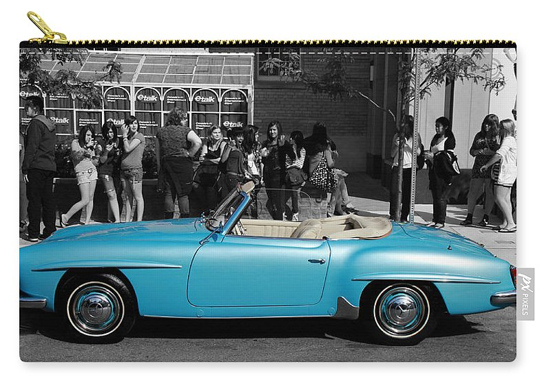 Mercedes Benz Carry-all Pouch featuring the photograph Baby Blue Benz by Andrew Fare