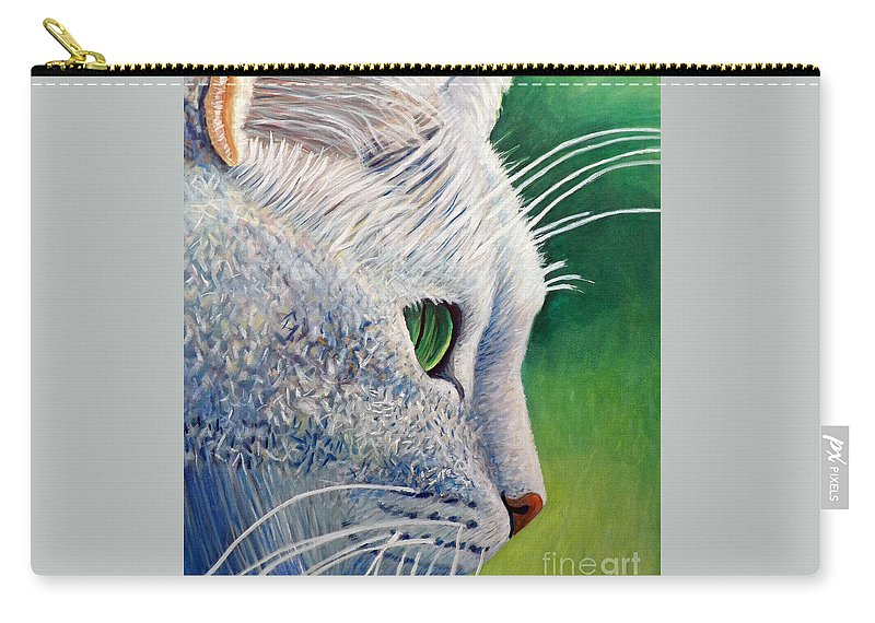 Cat Carry-all Pouch featuring the painting Back In The Day by Brian Commerford