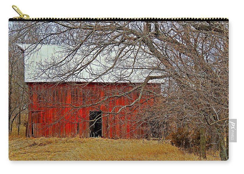 Barn Carry-all Pouch featuring the photograph Back In The Woods by Lynn Sprowl