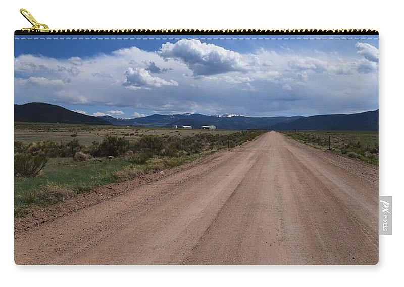 Back Road Carry-all Pouch featuring the photograph Back Road by Annie Adkins