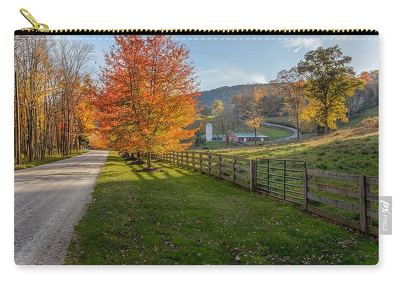 Bucolic Carry-all Pouch featuring the photograph Back Roads by Bill Wakeley