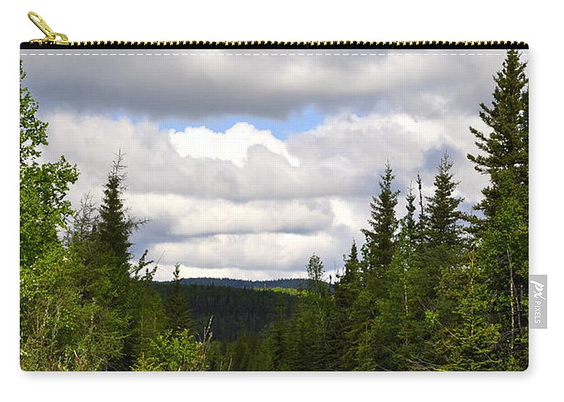 Road Carry-all Pouch featuring the photograph Back To Nature by Cathy Mahnke