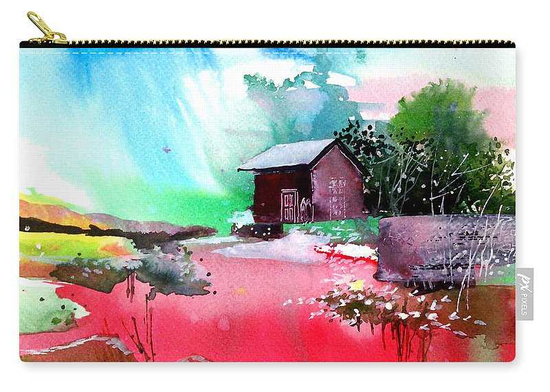Pavilion Carry-all Pouch featuring the painting Back To Pavilion by Anil Nene