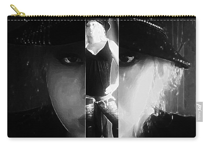 Black And White Carry-all Pouch featuring the photograph Backbone by Jessica Shelton