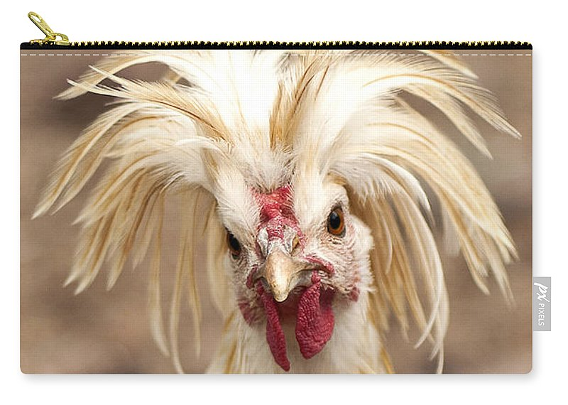 #chicken Carry-all Pouch featuring the photograph Bad Hair Day by K D Graves