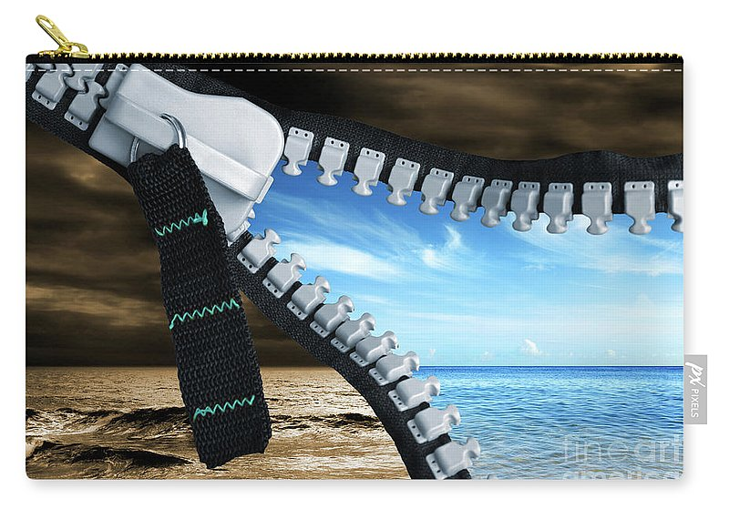 Background Carry-all Pouch featuring the photograph Bad Into Good by Carlos Caetano