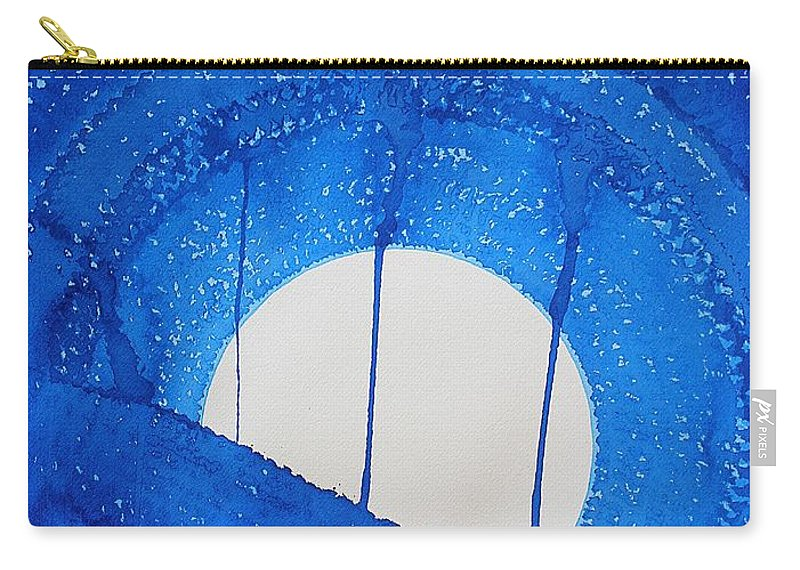 Moon Carry-all Pouch featuring the painting Bad Moon Rising Original Painting by Sol Luckman