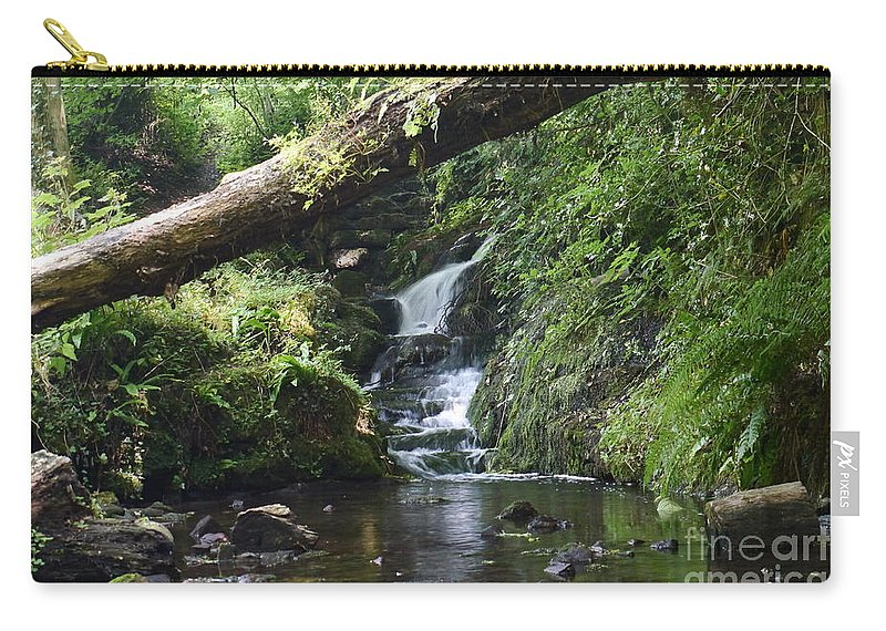 Waterfall Carry-all Pouch featuring the photograph Badger Dingle 2 by John Chatterley