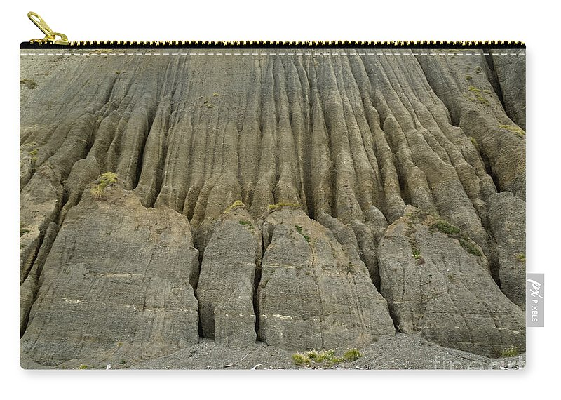 Background Carry-all Pouch featuring the photograph Badland Erosion Of Soft Conglomerate Sediment by Stephan Pietzko