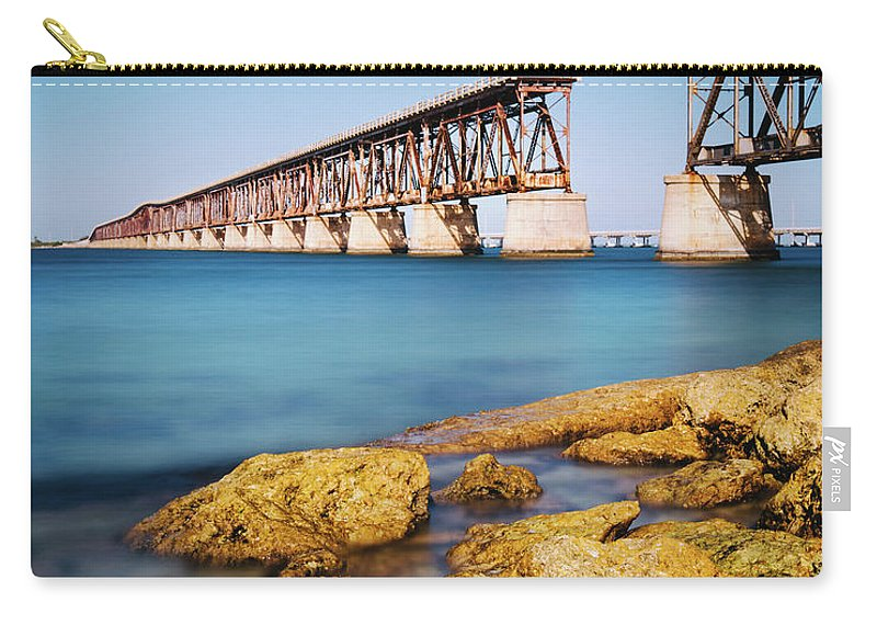 Seascape Carry-all Pouch featuring the photograph Bahia Honda State Park Florida by Ferrantraite