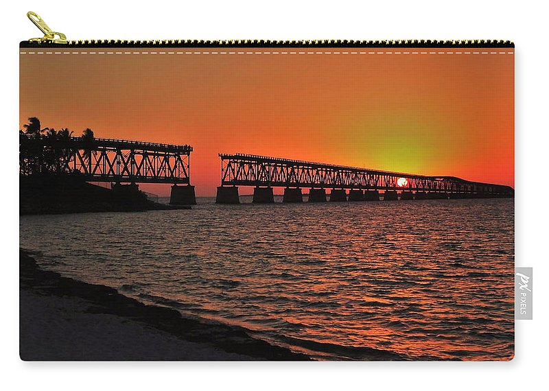 Bahia Carry-all Pouch featuring the photograph Bahia Honda Sunset by Benjamin Yeager