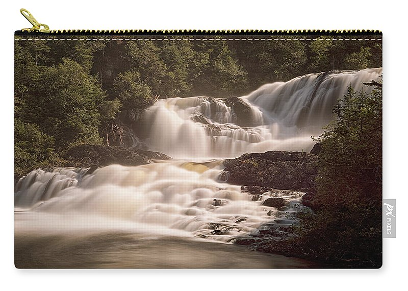Waterfalls Carry-all Pouch featuring the photograph Bakers Brook Falls by Eunice Gibb