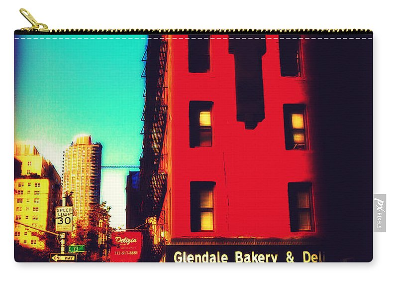 Nostalgia Carry-all Pouch featuring the photograph The Bakery - New York City Street Scene by Miriam Danar