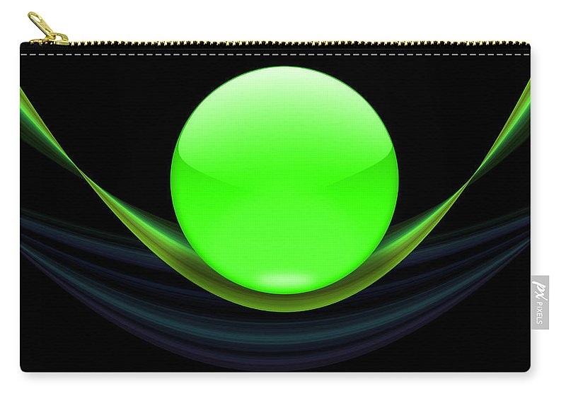 Ball Carry-all Pouch featuring the digital art Balance 11 by Ma Bu