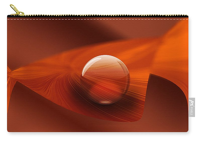 Ball Carry-all Pouch featuring the digital art Balance 7 by Ma Bu