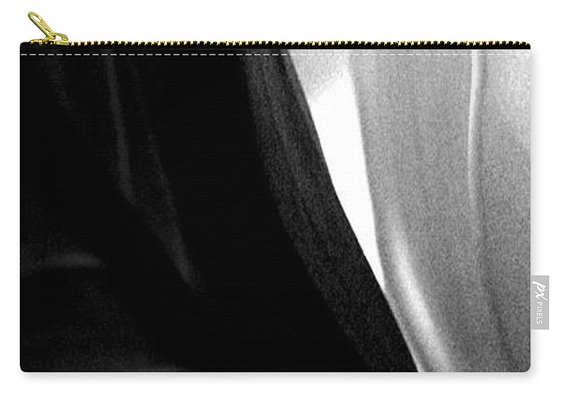 black And White Prints Carry-all Pouch featuring the photograph Balance by Amanda Barcon
